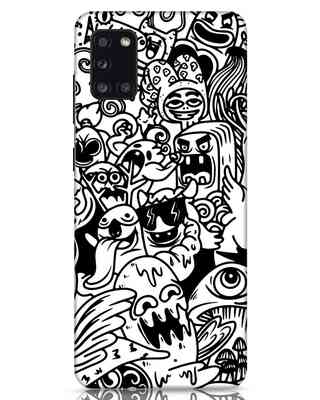 Shop Doodle Monsters Samsung Galaxy A31 Mobile Cover-Front