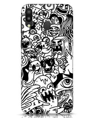 Shop Doodle Monsters Samsung Galaxy M20 Mobile Cover-Front