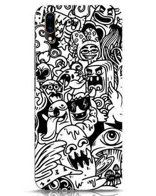 Shop Doodle Monsters Vivo V11 Pro Mobile Cover-Front