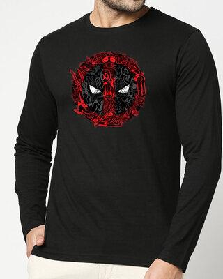 Shop Doodle Pool  Full Sleeve T-Shirt Black (DPL)-Front
