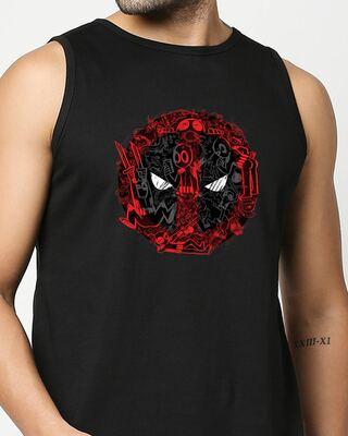 Shop Doodle Pool  Round Neck Vest Black (DPL)-Front