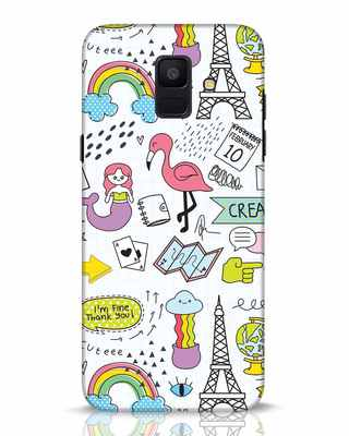 Shop Doodle Samsung Galaxy A6 2018 Mobile Cover-Front