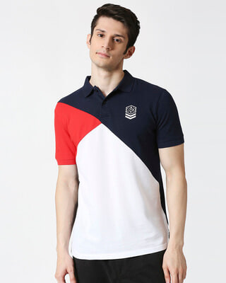Shop Down Arrow Three Panel Polo-Front