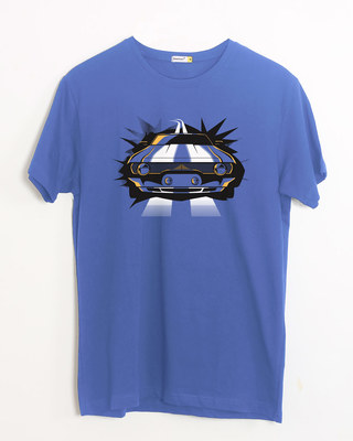 Shop Downtown Driver Half Sleeve T-Shirt-Front