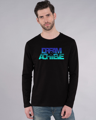 Shop Dream & Achieve Gradient Full Sleeve T-Shirt-Front