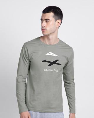 Shop Dream Big Plane Full Sleeve T-Shirt-Front