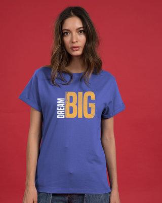 Shop Dream Big Sideways Boyfriend T-Shirt-Front