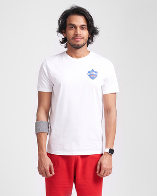 Shop Official DC: Dhawan Fan Jersey (White)-Front