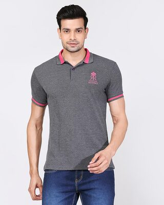 Shop Official RR: Royal Fan Polo (Grey)-Front
