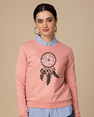 Shop Dreamcatcher Free Spirit Fleece Sweater-Front