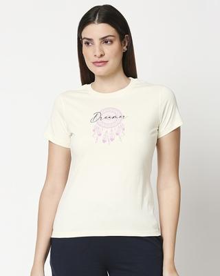 Shop Dreamer Leaves Women's Lounge T-Shirt-Front