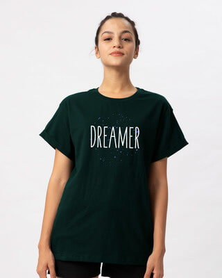Shop Dreamer Typo Boyfriend T-Shirt-Front