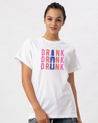 Shop Drink,drank,drunk Boyfriend T-Shirt-Front