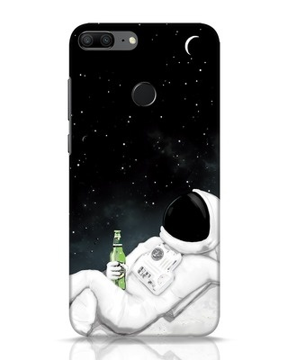 Shop Drinking Astronaut Huawei Honor 9 Lite Mobile Cover-Front