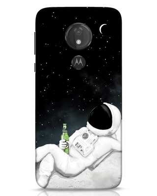 Shop Drinking Astronaut Moto G7 Power Mobile Cover-Front