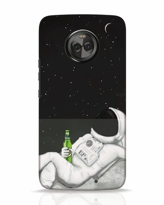 Shop Drinking Astronaut Moto X4 Mobile Cover-Front
