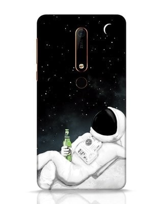 Shop Drinking Astronaut Nokia 6.1 Mobile Cover-Front