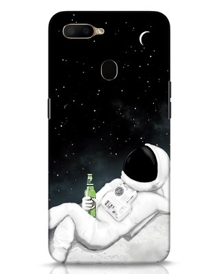 Shop Drinking Astronaut Oppo A5s Mobile Cover-Front