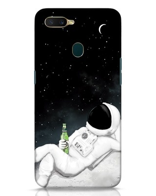 Shop Drinking Astronaut Oppo A7 Mobile Cover-Front