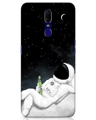 Shop Drinking Astronaut Oppo F11 Mobile Cover-Front