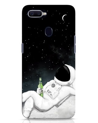 Shop Drinking Astronaut Oppo F9 Pro Mobile Cover-Front