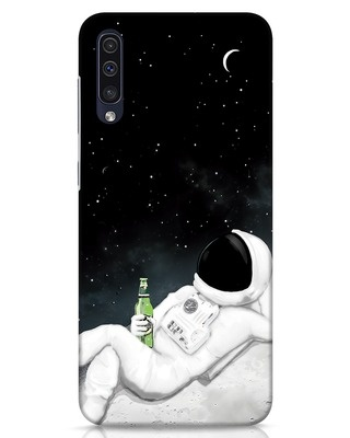 Shop Drinking Astronaut Samsung Galaxy A50 Mobile Cover-Front