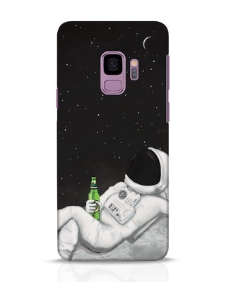 Shop Drinking Astronaut Samsung Galaxy S9 Mobile Cover-Front