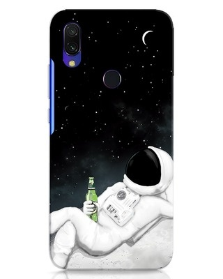 Shop Drinking Astronaut Xiaomi Redmi 7 Mobile Cover-Front