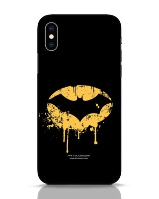 Shop Dripping Batman iPhone XS Mobile Cover (BML)-Front