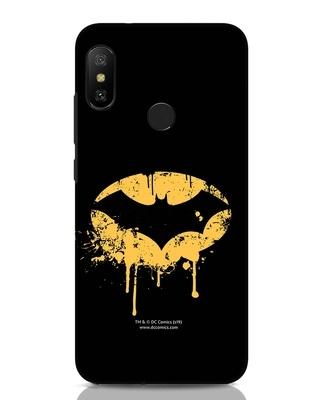 Shop Dripping Batman Xiaomi Redmi Note 6 Pro Mobile Cover (BML)-Front