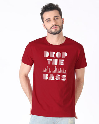 Shop Drop The Bass Half Sleeve T-Shirt-Front
