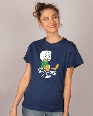 Shop Duck Tales Need Sleep Boyfriend T-Shirt (DL)-Front
