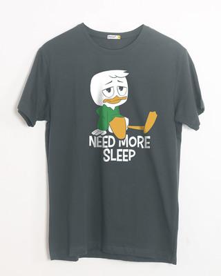 Shop Duck Tales Need Sleep Half Sleeve T-Shirt (DL)-Front