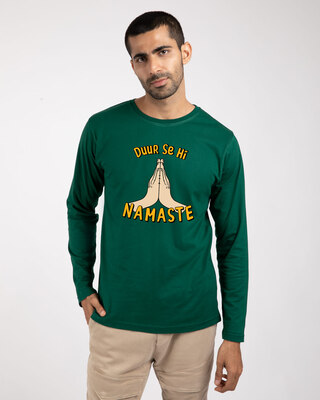 Shop Durr Se Namaste Full Sleeve T-Shirt-Front