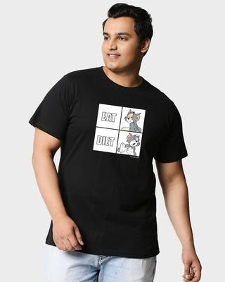 Shop Eat Diet (TJL) Half Sleeve Plus Size T-Shirt-Front