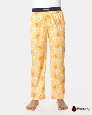 Shop Smugglerz Eggs & Croissants Pyjamas Yellow-Front