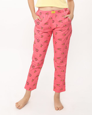 Buy Eggs & Sausage All Over Printed Pyjama Online India @ Bewakoof.com