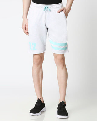 Shop Egret melange Men Shorts-Front
