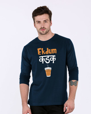 Shop Ekdum Kadak Full Sleeve T-Shirt-Front