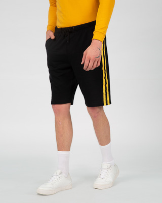 Shop Electric Banana Sports Trim Shorts-Front