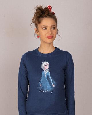 Shop Elsa Stay Strong Fleece Light Sweatshirts (DL)-Front