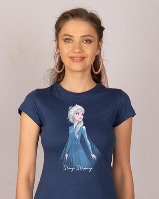 Shop Elsa Stay Strong Half Sleeve T-Shirt (DL)-Front