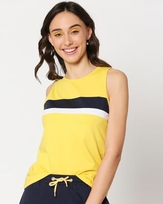 Shop Yolo Yellow Tank Top-Front