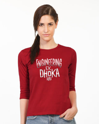 Buy Engineering Ek Dhoka Round Neck 3/4th Sleeve T-Shirt Online India @ Bewakoof.com