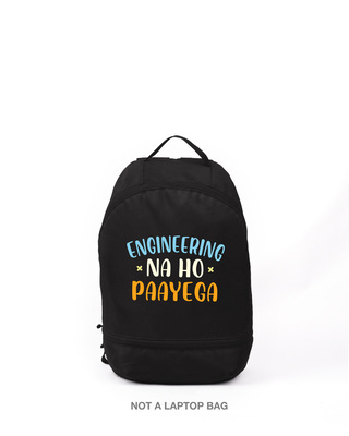 Shop Engineering Na Ho Payega Printed Small Backpack-Front