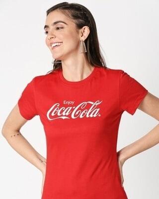 Shop Enjoy Coca Cola Half Sleeves T-Shirt-Front