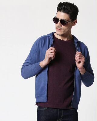Shop Ensign Blue Zipper Hoodie-Front