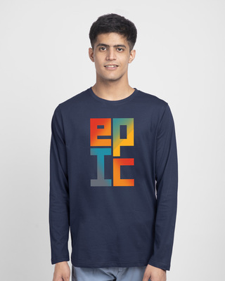 Shop Epic Stack Full Sleeve T-Shirt-Front