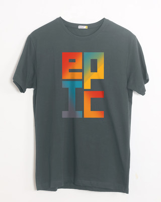 Shop Epic Stack Half Sleeve T-Shirt-Front