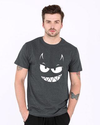 Shop Evil Smiley Half Sleeve T-Shirt-Front